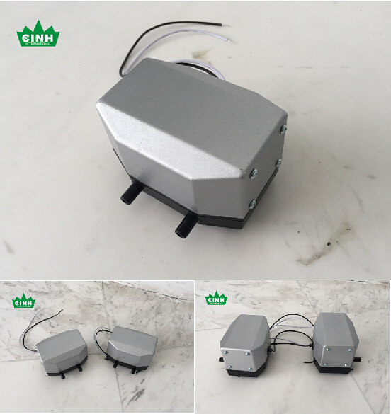 15Lpm Double Diaphragm Electromagnetic Air Pump 106x76x74mm